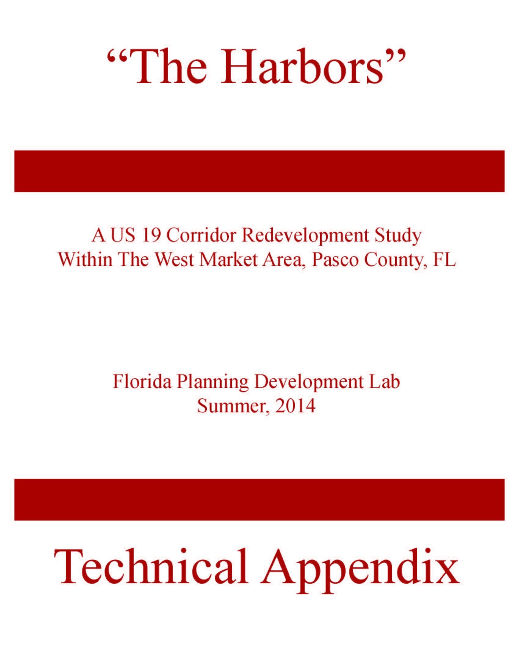 FSU Vision 19 - The Harbors Technical Appendix Cover