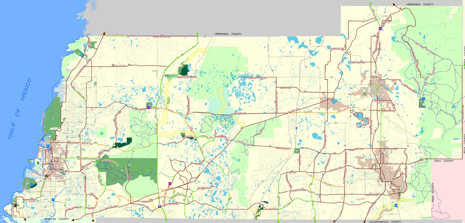 Map of Trails