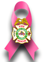 Department Logo with Breast Cancer Ribbon