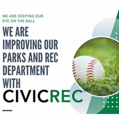 Improving our parks text baseball on grass picture